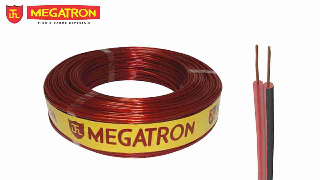 CORDÃO BICOLOR MEGATRON 2X2.50MM² (2X12) ROLO C/100M