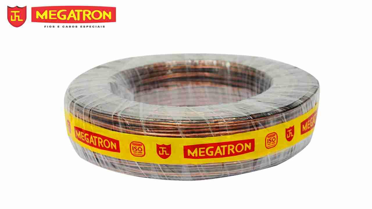 CORDÃO CRISTAL MEGATRON 2X2.50MM² (2X12) ROLO C/100M