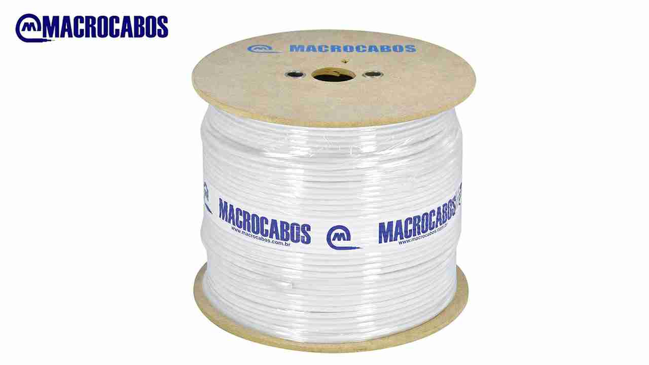 CABO COAXIAL MACROCABO CE.59 67% BRANCO BOBINA C/300M