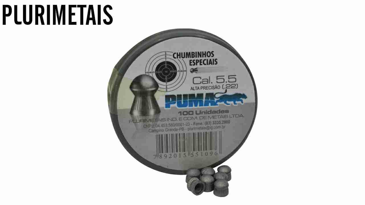 CHUMBINHO P/CARABINA PRES.PUMA 5.5 C/100