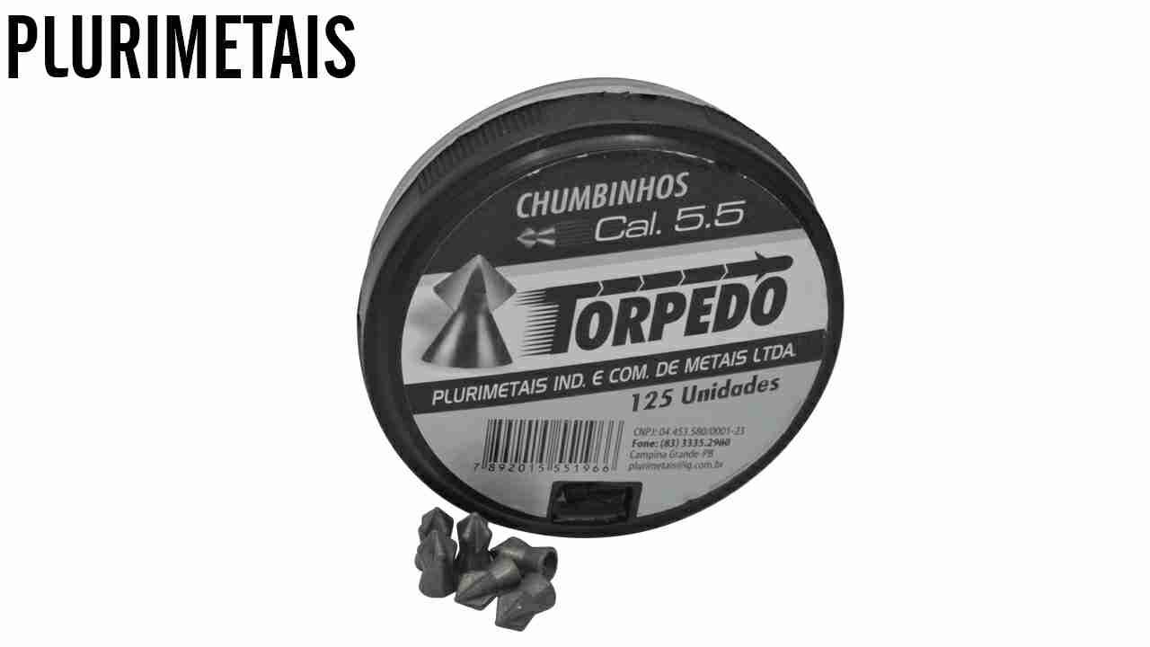 CHUMBINHO P/CARABINA P.TORPEDO 5.5 C/125