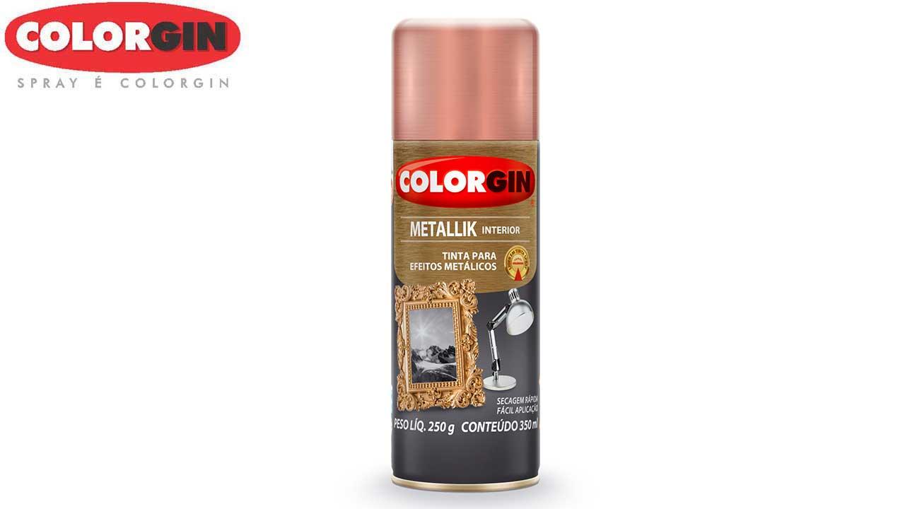 TINTA SPRAY COLORGIN METALLIK ROSE GOLD 350ML/235G
