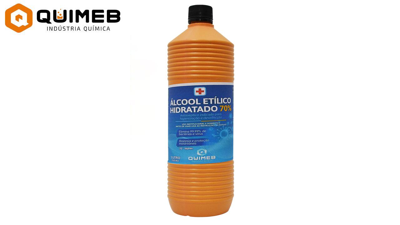 ALCOOL ETILICO HIDRATADO QUIMEB 70% 1LT