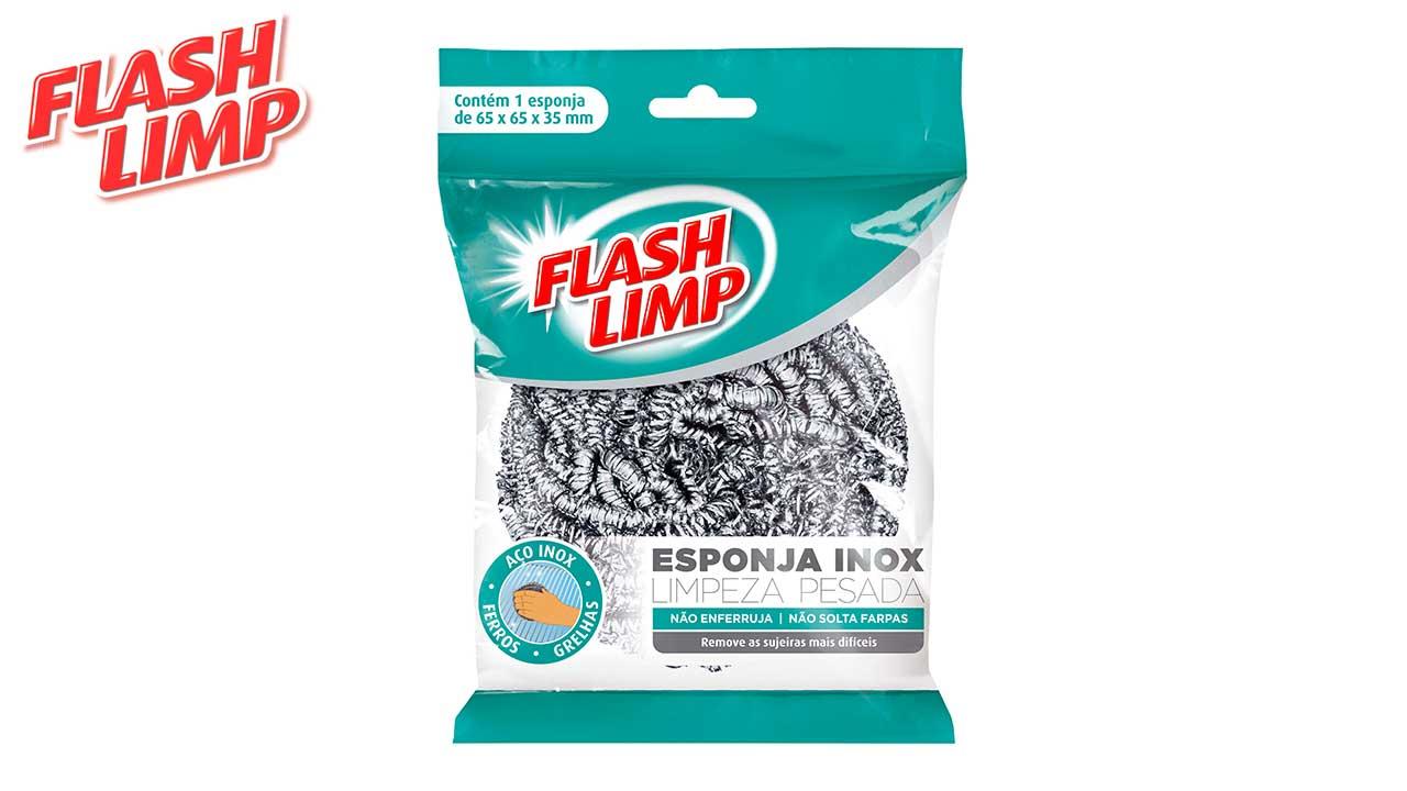 FLASH LIMP ESPONJA INOX LIMPEZA PESADA