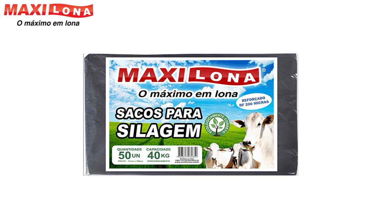 SACO P/SILO MAXI.51X110CM 200MIC PT C/50
