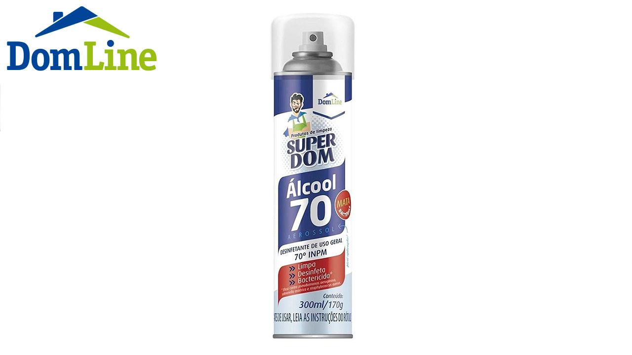 ÁLCOOL EM SPRAY SUPER DOM 70% 300ML/170G