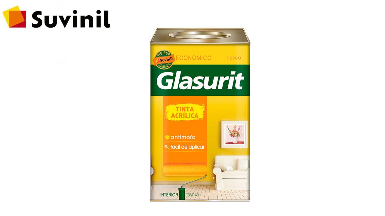 TINTA GLASURIT ACRÍLICA ECONÔMICO FOSCO 18L BRANCO NEVE