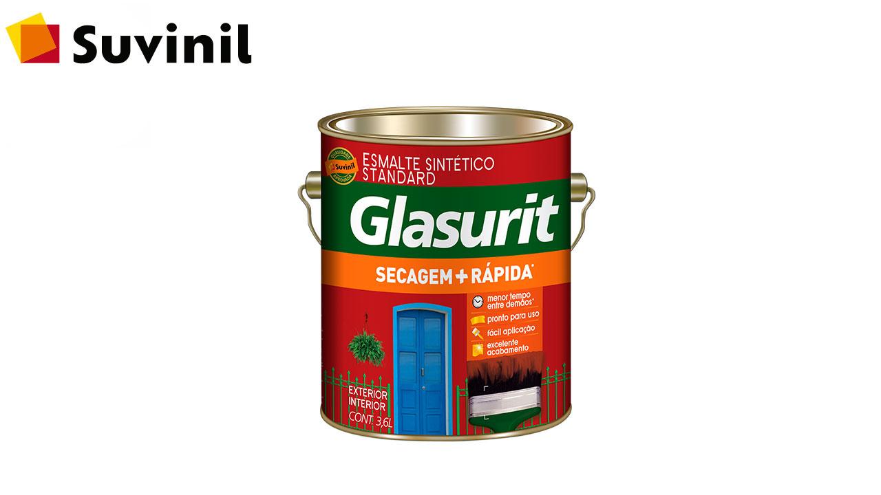 ESMALTE SINTÉTICO BRILHANTE GLASURIT GL3,6L PLATINA