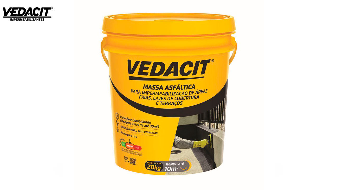 VEDACIT MASSA ASFALTICA IMPER.BD C/20KG