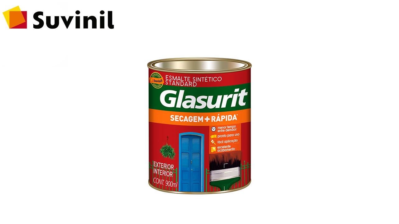ESMALTE SINTÉTICO BRILHANTE GLASURIT LT900ML PRETO