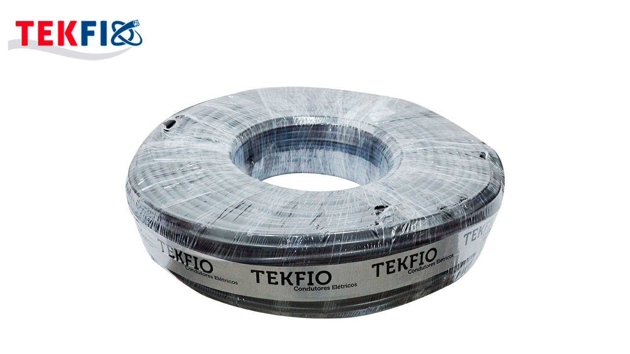 CABO FLEXÍVEL TEKFIO PP 2X1.50MM² PT 300/500V ROLO C/100M