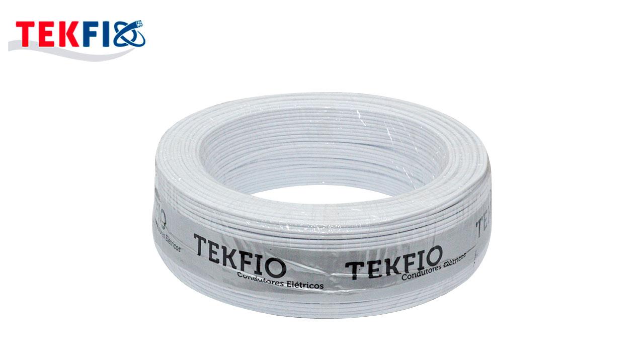 CORDÃO TEKFIO PARARELO 2X1.5MM² BRANCO ROLO C/100M