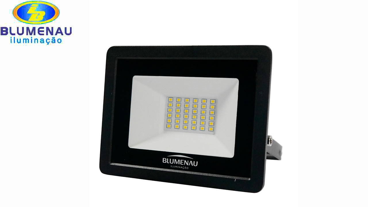 REFLETOR BLUMENAU LED TECH 30W 65000K BI
