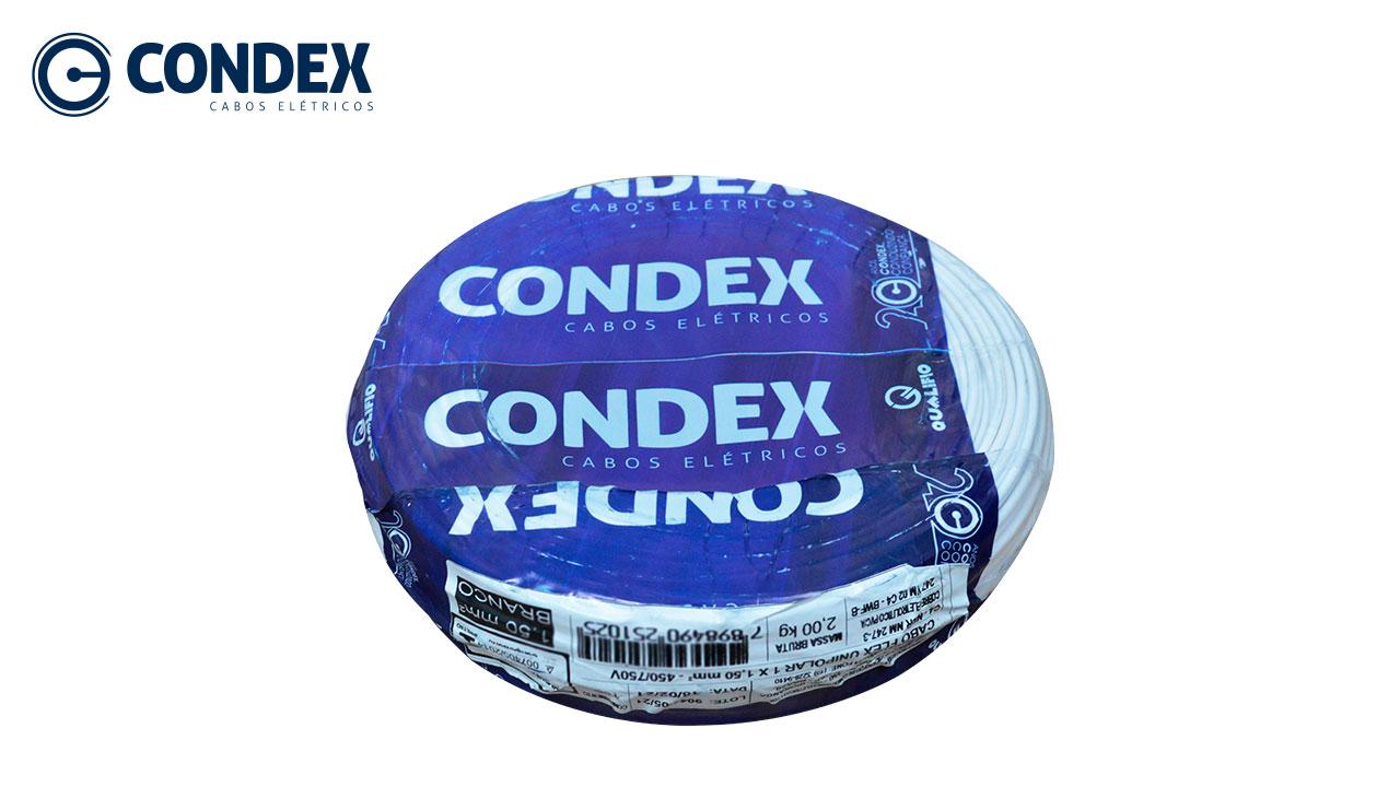 CABO FLEXÍVEL CONDEX 6.0MM BRANCO 450/750V ROLO C/100M