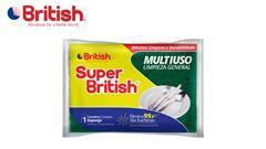 ESPONJA SUPER BRITISH MULTIUSO PACOTE COM 04 UNIDADE