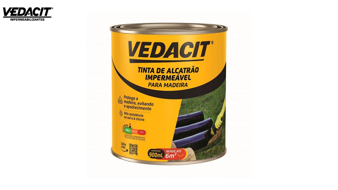 VEDACIT TINTA ALCATRAO IMPERMEAVEL PARA MADEIRA 900ML
