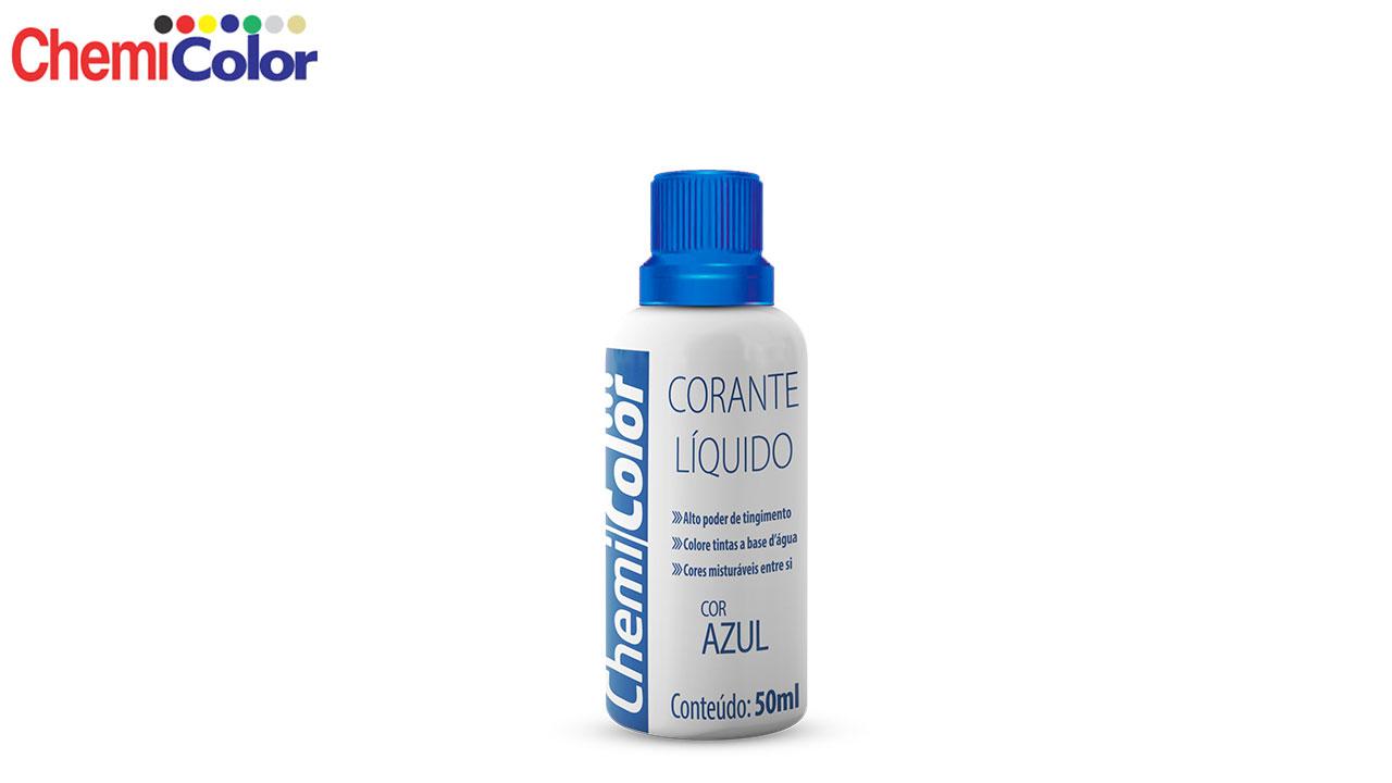 CORANTE CHEMICOLOR LÍQUIDO 50ML AZUL