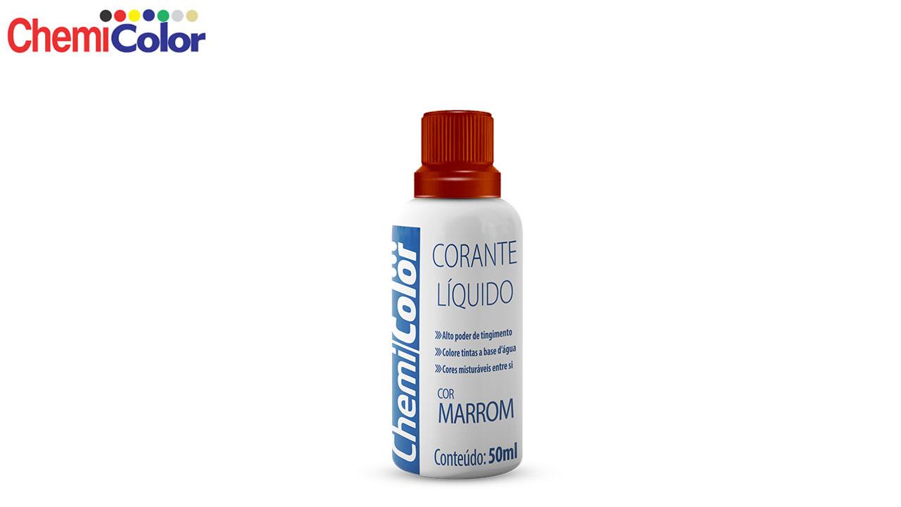 CORANTE CHEMICOLOR LÍQUIDO 50ML MARROM