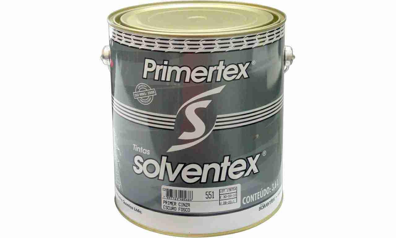 PRIMETEX CINZA SOLVENTEX(ZARCÃO) GL 3,6L