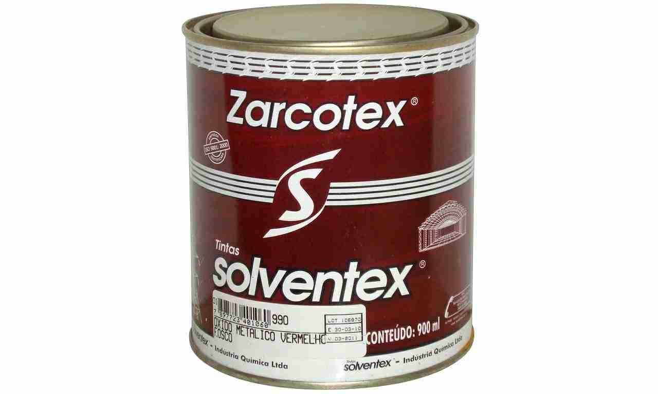 ZANÇÃO ZARCOTEX SOLVENTEX VERMELHO FC LT900ML