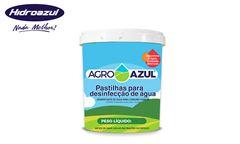 PASTILHAS PARA DESINFECÇÃO DE ÁGUA AGROAZUL POTE COM 1KG COM 100 PEDRAS DE 10G