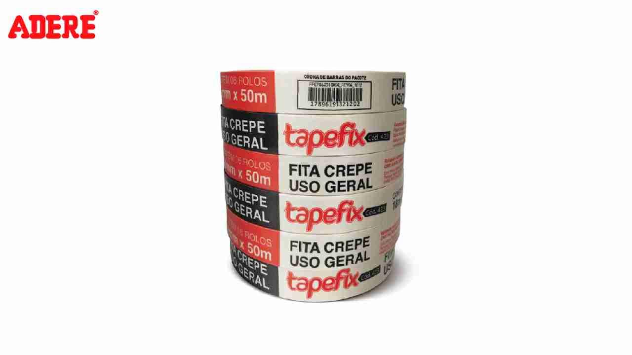 FITA CREPE ADERE TAPEFIX BRANCA 18MMX50M