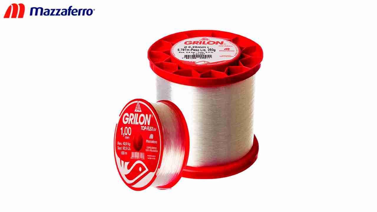 LINHA P/PESCA GRILON UV.100G 0.35MM BR