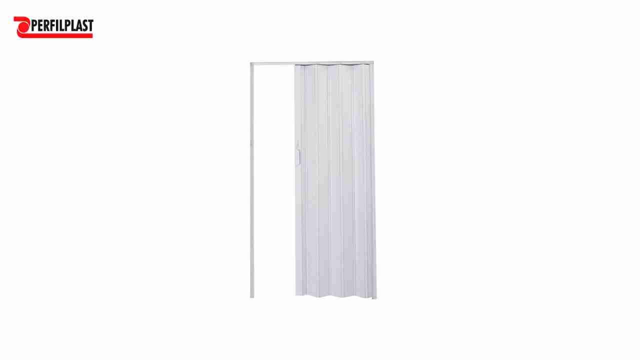 PORTA SANFONADA PVC BRANCA PERFILPLAST 84CM X 2.10M