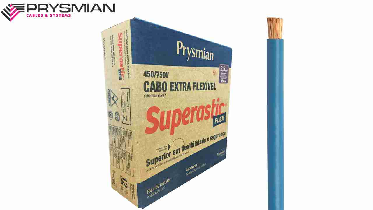 CABO FLEXÍVEL SUPERASTIC 2.5MM² AMARELO 450/750V ROLO C/100
