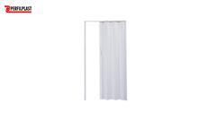 PORTA SANFONADA PVC BRANCA PERFILPLAST 96CM X 2.10M