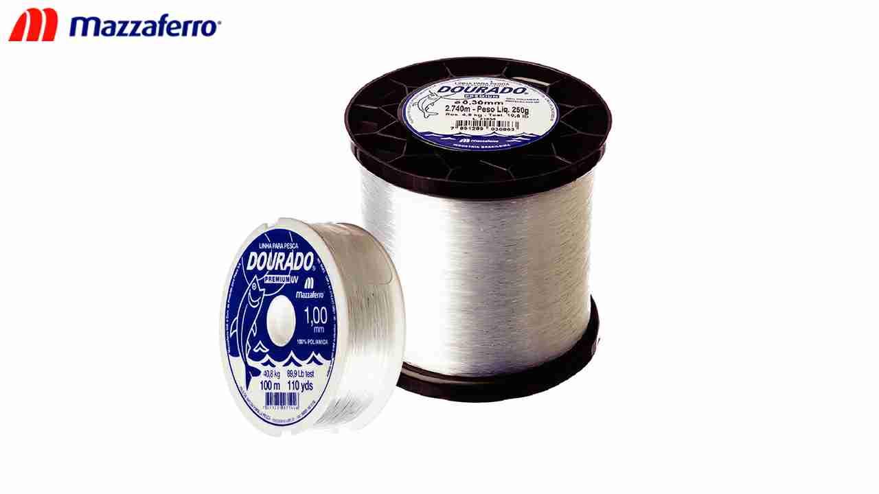 LINHA P/PESCA DOURADO UV.250G 0.35MM BR